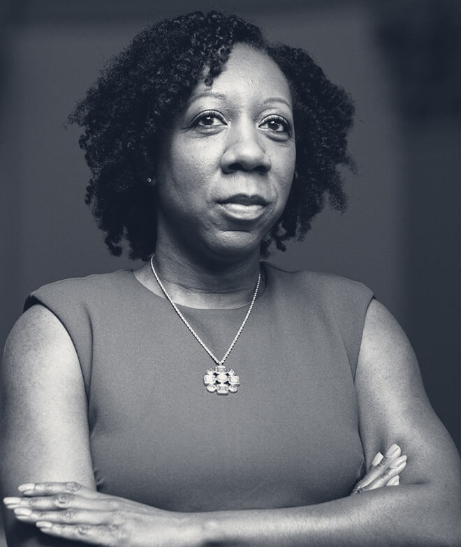 A photo of journalist Tia Mitchell