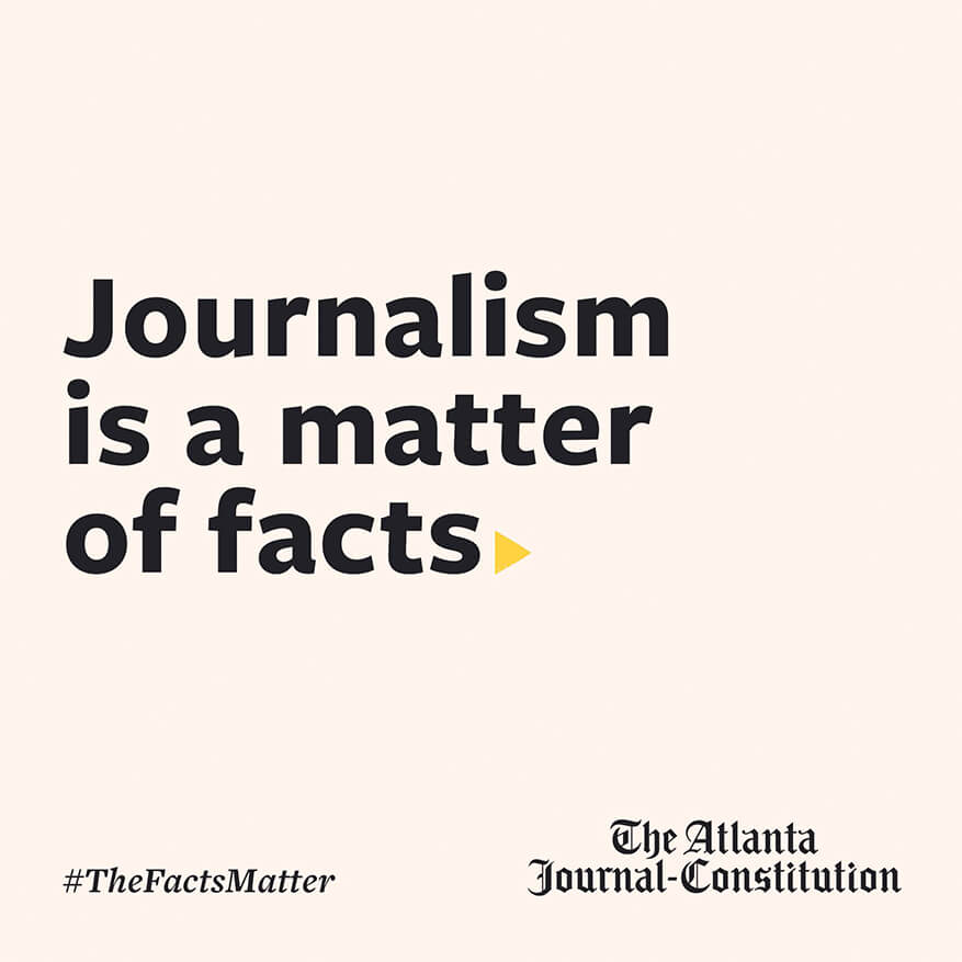 Journalism is a matter of facts