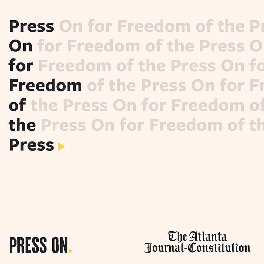 Press on for freedom of the press