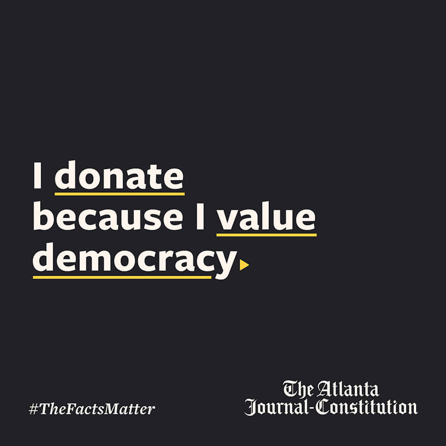 I donate because I value democracy