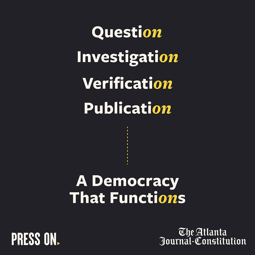 Question, Investigation, Verification, Publication, a democracy that functions.